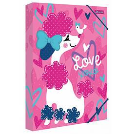 """Папка для праці картонна A4 1Вересня """"Love XOXO"""""""