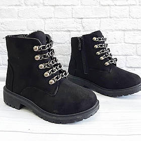 Черевички для дівчат (демо) чорного кольору. Розмір: 24-29