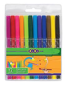 Фломастери ZiBi 12 кольорів ZB.2802
