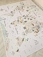 Ковер для детской из микрофибры Карта 200*150 см