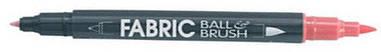 Маркер чорний д/св тканин двосторонній 0.75 мм з пензлем 1-2мм 122-S Fabric ball&Brush Marvy