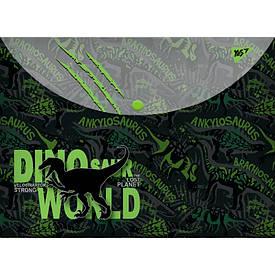Папка-конверт YES на кнопке А4 ''Dino''