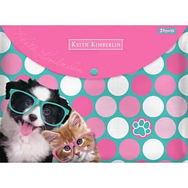 Папка-конверт 1Вересня на кнопке А4 ''Keith Kimberlin''
