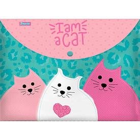 Папка-конверт 1Вересня на кнопке А4 ''I am a cat''