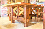 Садовая мебель 1900х900 из массива дерева от производителя для дачи, кафе, комплект Farmhouse Hand Made - 02, фото 3