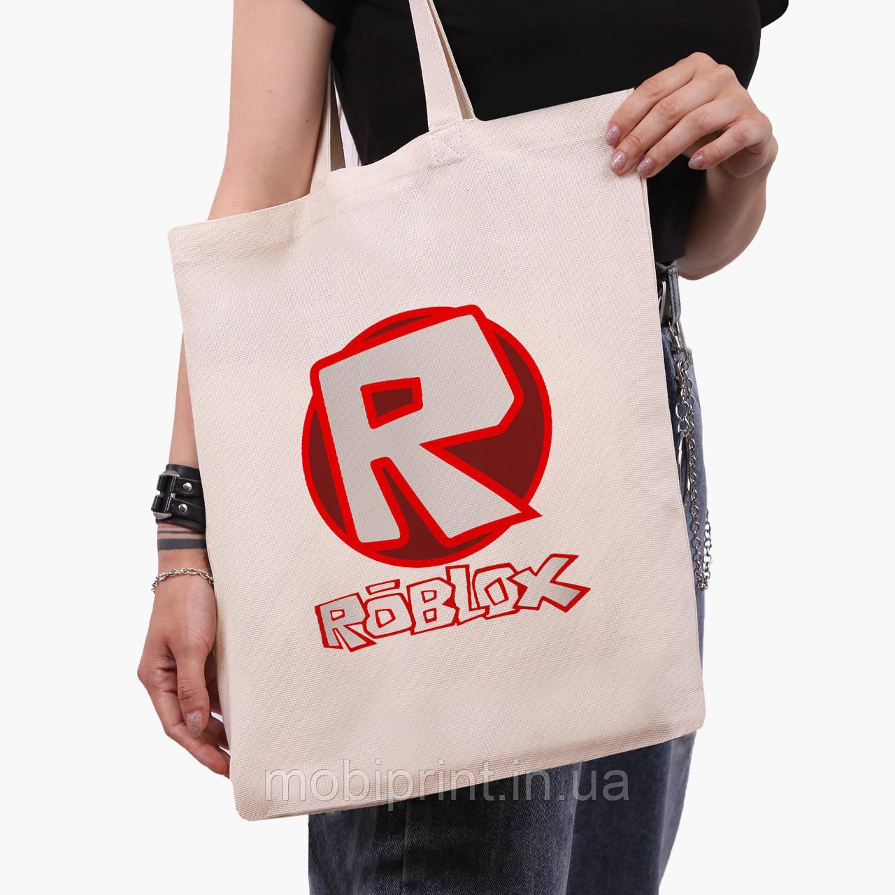 Эко сумка шоппер Роблокс (Roblox) (9227-1708)  экосумка шопер 41*35 см