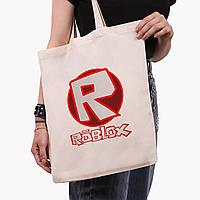 Эко сумка шоппер Роблокс (Roblox) (9227-1708)  экосумка шопер 41*35 см , фото 1