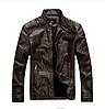 Мужская демисезонная кожаная куртка. Арт.114906