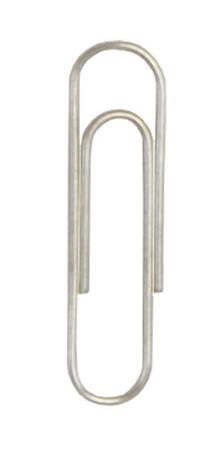 Скрепки 28мм Buromax 100шт круглые никелированные (BM.5005), фото 2