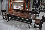 Стол деревянный дачный 1500*800 для кафе, баров, ресторанов от производителя, фото 7