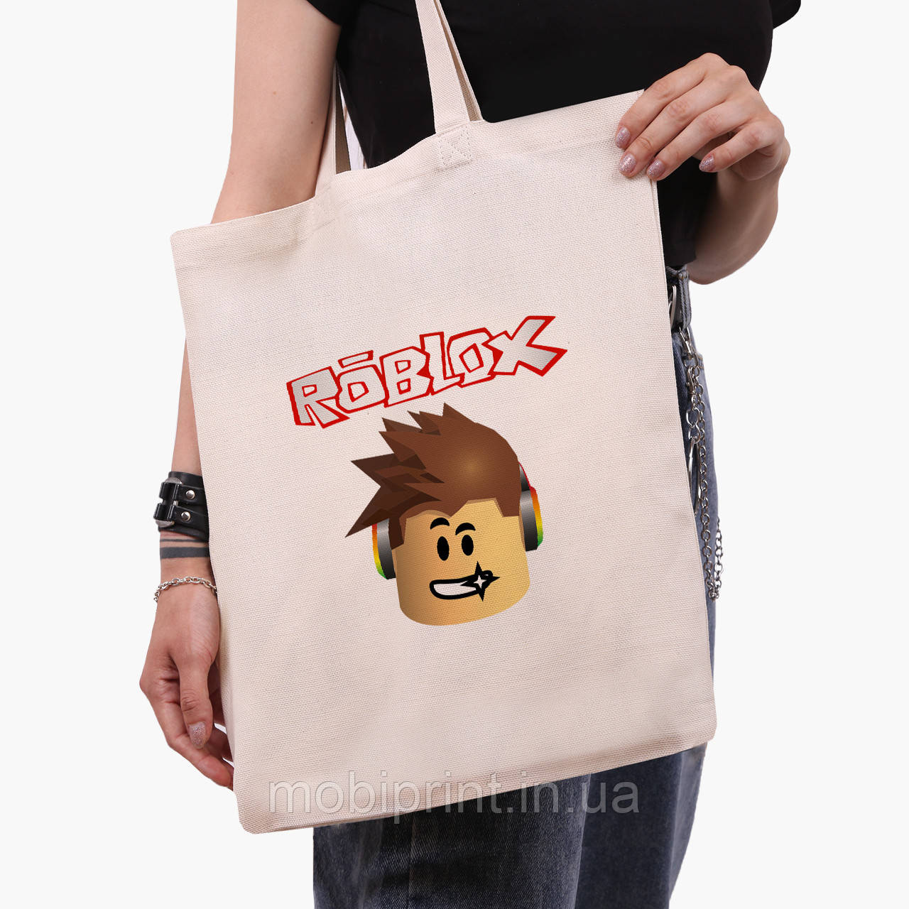 Эко сумка шоппер Роблокс (Roblox) (9227-1713)  экосумка шопер 41*35 см