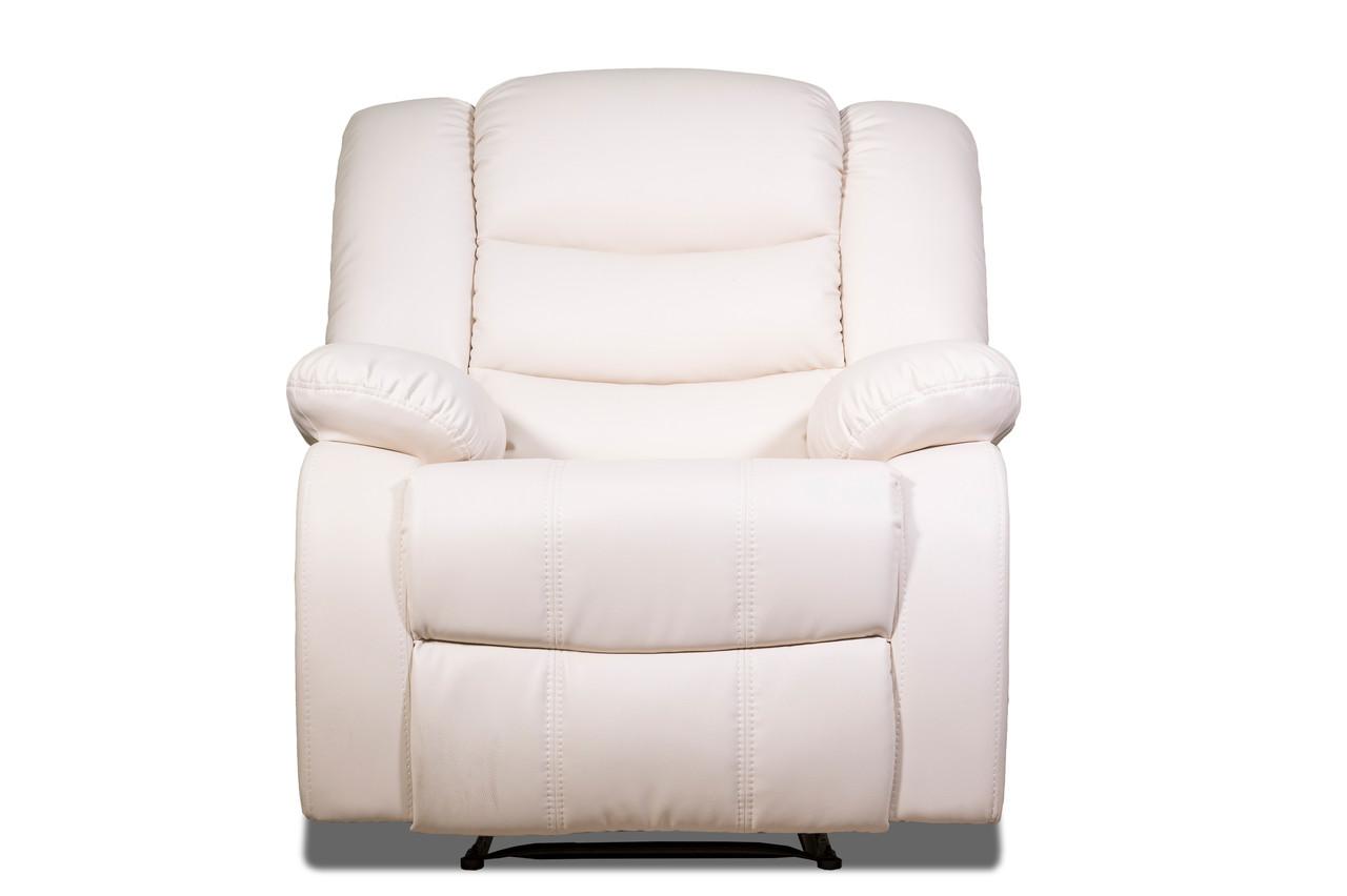 Шкіряне крісло-реклайнер Ashley, крісло з реклайнером, реклайнер, м'яке крісло