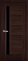 """Дверь межкомнатная остеклённая новый стиль Ностра """"Грета G,BLK"""" 60,70,80,90 см каштан"""