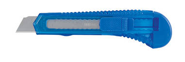 Нож канцелярский Buromax 18мм прозр. мех.фиксат трафаретный BM.4646
