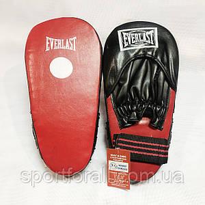 Лапы боксёрские Everlast прямые красные