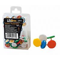 Кнопки канцелярские цветные 100 шт. L1911