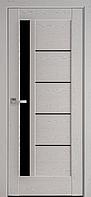 """Дверь межкомнатная остеклённая новый стиль Ностра """"Грета G,BLK"""" 60,70,80,90 см патина серая"""