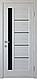 """Дверь межкомнатная остеклённая новый стиль Ностра """"Грета G,BLK"""" 60,70,80,90 см патина серая, фото 4"""
