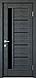 """Дверь межкомнатная остеклённая новый стиль Ностра """"Грета G,BLK"""" 60,70,80,90 см патина серая, фото 7"""