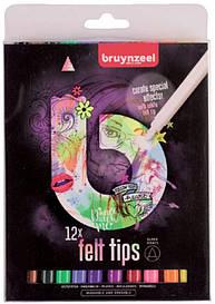 Набір фломастерів FELT TIPS LIGHT, 12кол., Bruynzeel