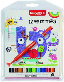 Набір дитячих фломастерів, 12кол., Bruynzeel