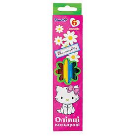 Цветные карандаши набор 1 Вересня 6цв микс дизайнов для девочки(290233)