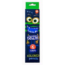 Цветные карандаши набор Yes Monsters 6цв (290305)