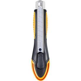 Нож канцелярский Maped ULTIMATE 18мм чёрный с желтым мех.фиксат трафаретный MP.018211