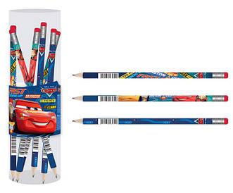 Олівець графітовий 1 Вересня Cars HB з гумкою мікс 3 дизайну (280516)