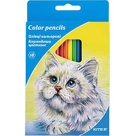 Цветные карандаши набор Kite 18цв (K15-052)