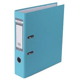 Папка регистратор 7см LUX Buromax А4 одностор покр РР голубой BM.3011-14c