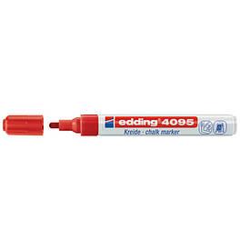 Маркер меловой Window Edding для окон  2-3 мм клиновидн красный e-4095/02