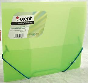Папка на гумках Axent В5 зелена прозора 1505-26-А
