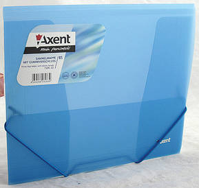 Папка на гумках Axent В5 синя прозора 1505-22-А