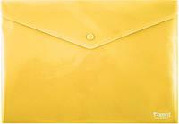 Папка на кнопке Axent непрозрачная Желтая 1412-26-А