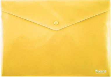 Папка на кнопці Axent Жовта непрозора 1412-26-А