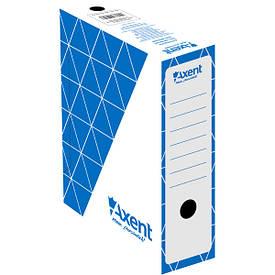 Бокс для хранения документов архивный Axent 100 мм для архивации синий (1732-02-A)