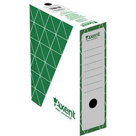Бокс для хранения документов архивный Axent 100 мм для архивации зеленый (1732-04-A)