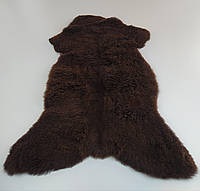 Натуральная меховая накидка из овечьей шкуры корычнева 90 см * 50 см.