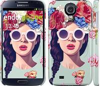 "Чехол на Samsung Galaxy S4 i9500 Девушка с цветами ""2812c-13"""