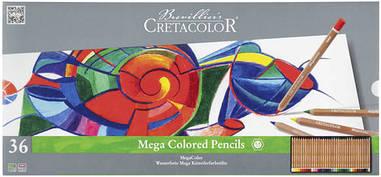 Цветные карандаши набор Cretacolor MEGACOLOR 36шт в метал.пенале (9014400290894)