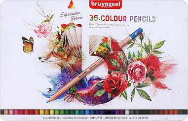 Набір кольорових олівців, EXPRESSION, 36шт., мет.коробка, Sakura