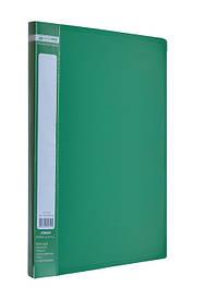 Папка А4 зі швидкозшивачем Jobmax зелений