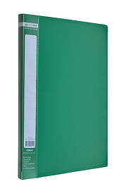 Папка-скоросшиватель Buromax А4 зеленый Jobmax с пружиной, бок. карм. (BM.3406-04)