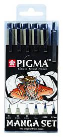 Набір линеров для манга MANGA PIGMA TOOL SET, 6шт., Sakura