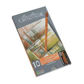 Набор художественных карандашей для эскизов ARTINO, 10 шт., метал. коробка, Cretacolor