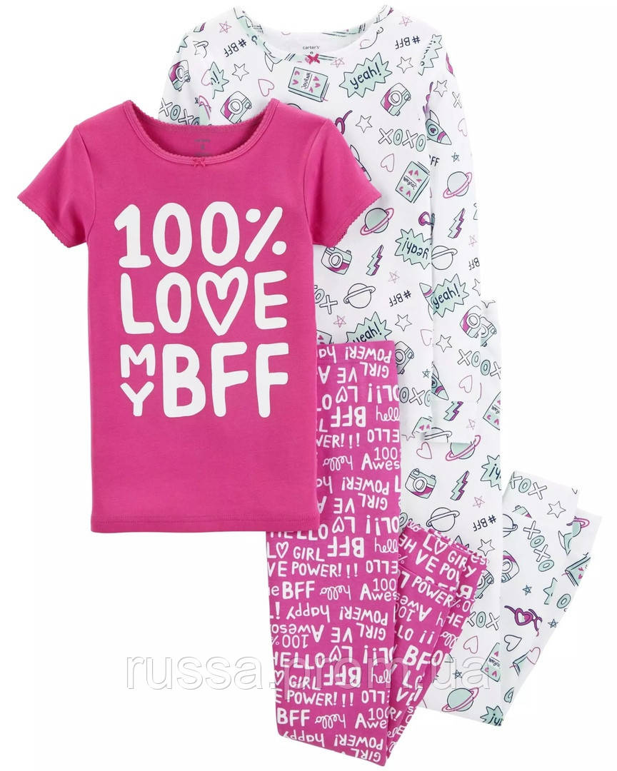Трикотажная детская пижама Картерс для девочки (поштучно)