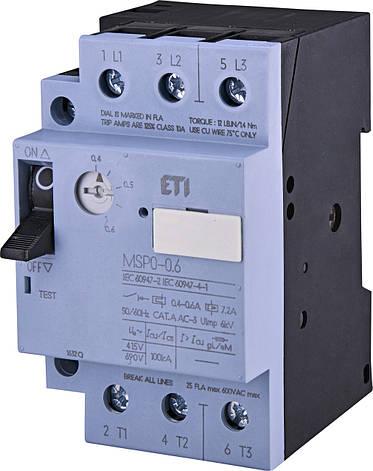 Автоматический выключатель защиты двигателей ETI MSP0-1,6, фото 2