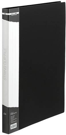 Папка-скоросшиватель Buromax А4 черный с пружиной, бок. карм. (BM.3407-01), фото 2