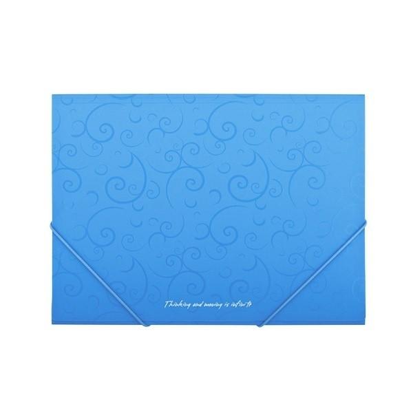 Папка А5 на гумках BAROCCO блакитний